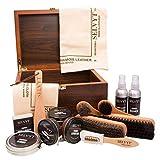 Selvyt Men's Walnut Veneer Shoecare Valet Box One Size Multicolor