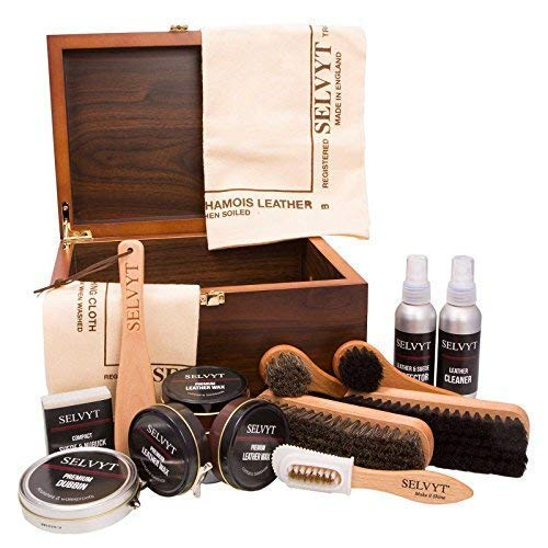 Selvyt Men's Walnut Veneer Shoecare Valet Box One Size Multicolor by Selvyt (Image #6)