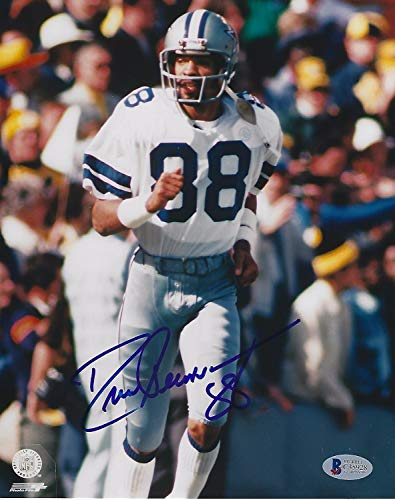 - Drew Pearson Signed Dallas Cowboys 8x10 Photo with - Beckett Certified