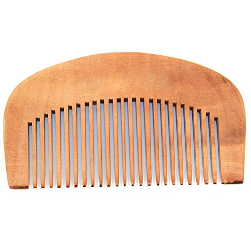 Sanwood dents Soins des cheveux Peigne en bois antistatique Tête de massage
