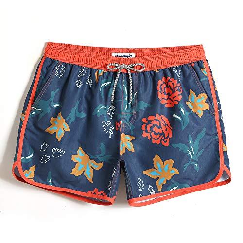 MaaMgic Mens Boys 80s 90s Short Retro Swim Trunks Swimsuit for Men Mens Bathing Suits Slim Fit Swim Shorts