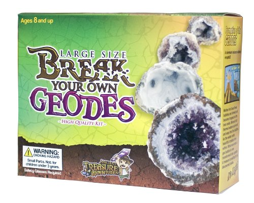 Large Size Break Open Geodes High Quality Kit 12 Whole Geodes By Ancient Treasure Adventures ()
