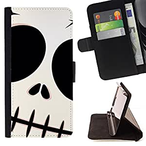 - Skull Halloween Monster Face - Estilo PU billetera de cuero del soporte del tir???¡¯????n [solapa de cierre] Cubierta- For HTC Desire 820 £¨ Devil Case £©