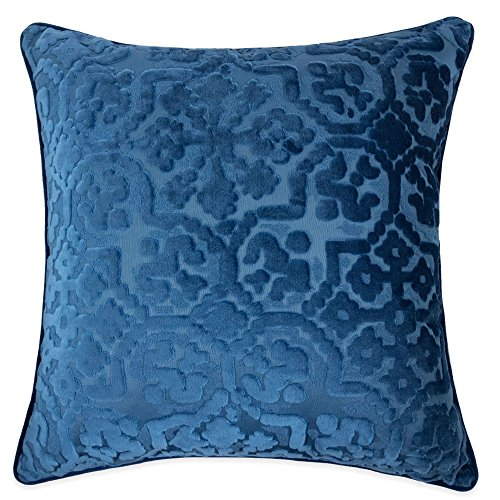Homey Cozy Modern Velvet Throw Pillow Cover,Indigo Blue Luxury Soft Fuzzy Cozy Warm Slik Decorative Square Couch Cushion Pillow Case 20 x 20 Inch, Cover Only