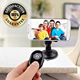 RED SHIELD Bluetooth Camera Shutter Remote Control for Smartphones, Compatible with all Android and iOS Devices, Take Perfect Photos and Selfies with Universal Camera Button