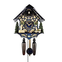 Adolf Herr Quartz Cuckoo Clock - Magic Blue