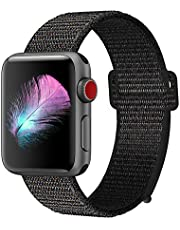 GIPENG Para Correa Apple Watch 38MM 40MM 42MM 44MM, Suave Nylon Correa, Deporte Reemplazo para iWatch Series 4, Series 3, Series 2, Series 1