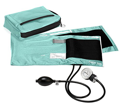 Prestige Medical Premium Adult Aneroid Sphygmomanometer, Aqua Sea, X-Large, 15.00 Ounce