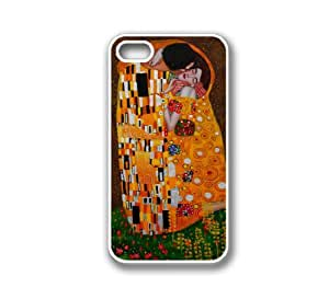 iPhone 4 Case White Silicone Case Protective iPhone 4/4s Case The Kiss by Gustav Klimt wangjiang maoyi by lolosakes