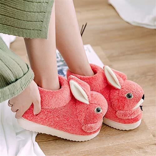 Lianaio Pantofole 36 Di 39 Per Ispessimento In 38 Alto 37 Femminili Cotone Inclusive Con Scarpe Inverno All Adatto Tridimensionali Animali ddrFxwg
