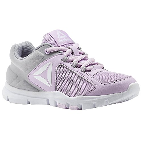 Reebok Yourflex Train 9.0, Zapatillas de Deporte para Niñas Rosa (Moonglow/Stark Grey/White 000)