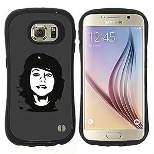 "Hypernova Slim Fit Dual Barniz Protector Caso Case Funda Para Samsung Galaxy S6 [Che Rebel Chica""]"