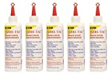 Five-Pack Beacon Fabri-Tac Permanent Adhesive, 8 Ounce The Glue Gun in A Bottle !