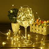 Christmas Lights BHCLIGHT LED String Battery Operated Starry Copper Wire Waterproof Décor Rope Lights For Seasonal Decorative Holiday, Parties,Wedding(50 Leds, 16.5 ft, Warm White)