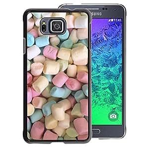 A-type Arte & diseño plástico duro Fundas Cover Cubre Hard Case Cover para Samsung ALPHA G850 (Marshmallow Sweets Candy Pastel Color)