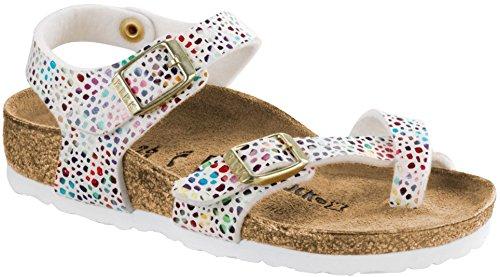 Birkenstock Girls Taormina Sandal, Mosaic White Birko-Flor, Size 26 N EU (8-8.5 N US Little Kid)