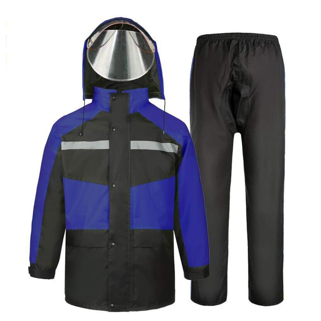 C XXXL YDS SHOP Unisexe Adulte (imperméable et Costume de Pluie), Veste de Montagne légère à Capuche imperméable et Coupe-Vent pouvant être réutilisée (Couleur   A, Taille   M)