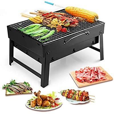 Uten Portable Charcoal Grill Broil Pit BBQ Stainless Steel