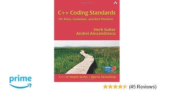 C Coding Standards Sutter Alexandrescu Pdf