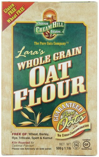 Cream Hill Estates Lara's Whole Grain Oat Flour, 1.1 Pound Boxes (Pack of 4)
