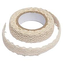 Decoration band -SODIAL (R) Decoration band lace ribbon fabric tape Christmas wedding border gift