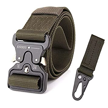Kipove Tactical Military Nylon Automatic Metal Buckle Men Outdoor Quality Waist Strap Army Gear Canvas Camo Wide Jeans Belt