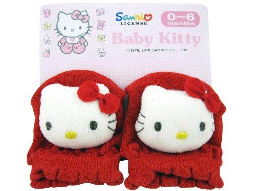 Red Hello Kitty Baby Glove Mittens Size 0-6 Months ()