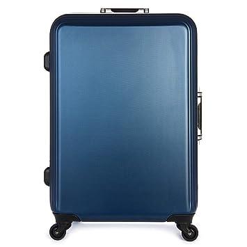 Maleta con ruedas, bastidor de aluminio, equipaje de ruedas universal, maleta profunda para