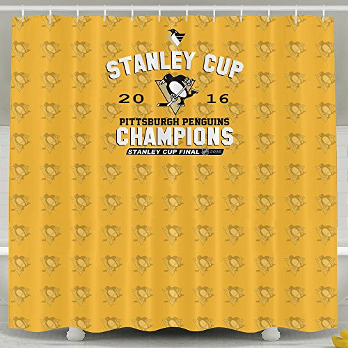 IWKULAD PITTSBURGH PENGUINS FINAL CHAMPIONS 2016 Customized Shower Curtains