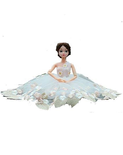 shindn hecho a mano calidad multicapa princesa boda vestido de fiesta vestidos de novia para Barbie