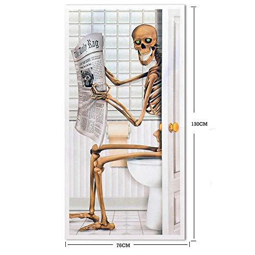 Leoy88 Halloween Skeleton View Door Mural Stickers Self Adhesive Peel and Stick Wall Wallpaper]()