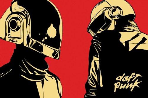 Daft Punk Robot Spin Poster