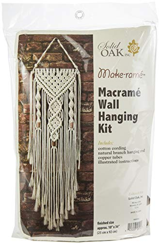 Solid Oak MWH003 Macrame Wall Hanger Kit Hearts