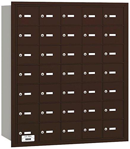 Salsbury Industries 3635ZRU 4B Plus Horizontal Mailbox, 35 A Doors, Rear Loading, USPS Access, Bronze