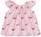 Egg by Susan Lazar Baby Girls' Watermelon Silk Top, Pink, 24 Months
