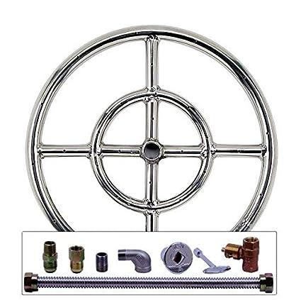 Spotix AFG Round Fire Pit Burner Kit (SS-FR-12KIT-LP- - Amazon.com: Spotix AFG Round Fire Pit Burner Kit (SS-FR-12KIT-LP