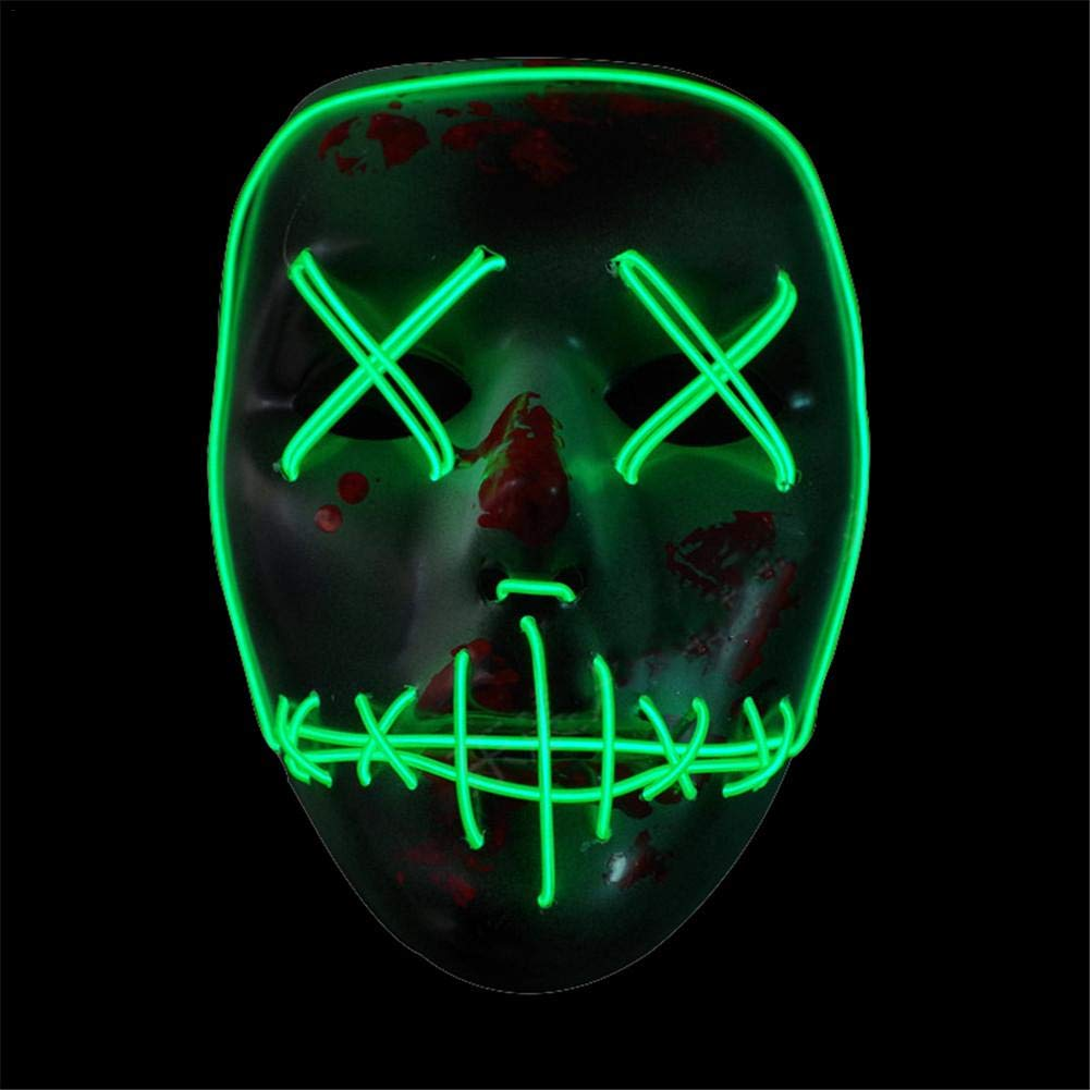 Máscara de Halloween LED, iE Wire ajustable parpadeante Light Up Costume máscaras DJ Party Festival Cosplay Luminous Props: Amazon.es: Bricolaje y ...