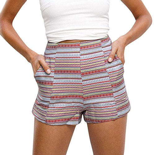 TIMEMEANS Womens Sexy Bohemia Print Hot Pants Summer, used for sale  Delivered anywhere in USA
