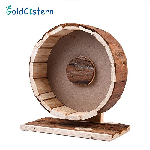 Best Quality - Toys - Hamster Running Wheel Natural Living Cute Wooden Chew Toys Exercise Wheel for Hamsters Chinchillas Guinea Pigs Small pet Toy - by Viet-ST - 1 PCs