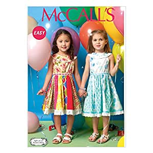 McCall's Patterns M7145 Children's/Girls' Dresses Sewing Template, CL (6-7-8)