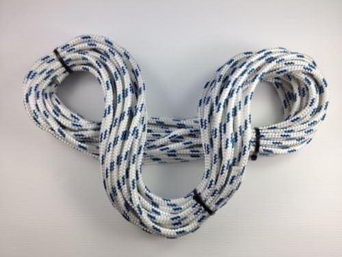 Marine Braid On Braid Blue Fleck Rope 6mm Up to 100 meters
