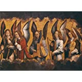 Oil painting 'Hans Memling - Christ with Singing and Music-Making Angels, Right Panel,1480s' printing on Perfect effect Canvas , 12x17 inch / 30x42 cm ,the best Nursery artwork and Home decoration and Gifts is this Imitations Art DecorativeCanvas Prints