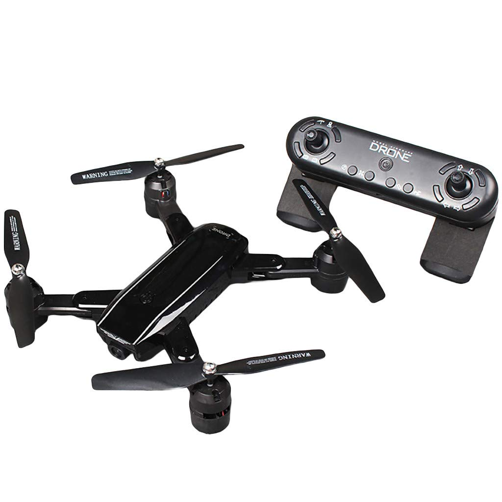Black FOANA 2.4Ghz 4CH 1080P 5MP WIFI Optical Flow Dual Camera Quadcopter Drone
