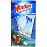 Windex Outdoor All-in-One Starter Kit 1 count, All-in-one glass cleaning tool , Streak free shine