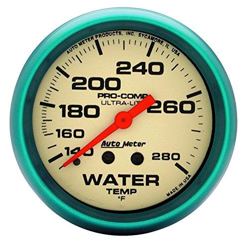 Auto Meter 4535 Ultra-Nite Water Temperature Gauge by Auto Meter