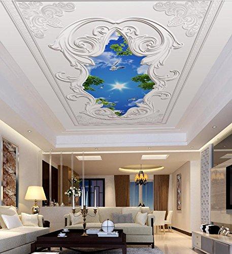 Yosot Custom Ceiling Wall 3D Murals Embossed Pattern Wall Papers Home Decor Living Room 3D Wallpaper Nature Landscap 3D-300Cmx210Cm