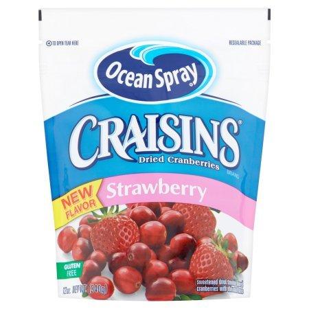 Ocean Spray Craisins Dried Cranberries, Strawberry Flavored, 12 Oz, pack of 1 (Spray Craisins Ocean)