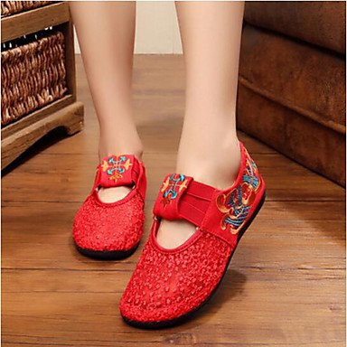 Cn37 Uk4 Wedding 7 Ruby 5 5 Informal US8 Shoes Las Plana Mujeres'S Ue37 Confort Ruby Confort Tela De CN39 De Verano RTRY UK6 Us6 5 EU39 1wFaUqxq