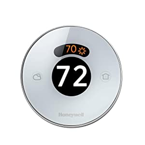 Honeywell Lyric Round Wi-Fi Thermostat, Up to 3 Heat/2 Cool Heat Pumps and Up to 2 Heat/2 Cool Conventional Systems