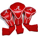 Team Golf NCAA Alabama Crimson Tide Contour Golf Club Headcovers (3 Count), Numbered 1, 3, & X, Fits Oversized Drivers, Utility, Rescue & Fairway Clubs, Velour lined for Extra Club Protection